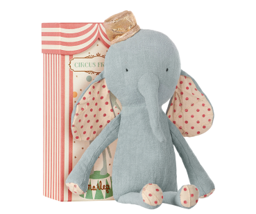 Maileg Elefant Circus Friends mit Hut blau blue