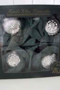Christbaumkugeln Lauscha.Krebs Glas Lauscha Christbaumkugeln Silber Klassisch