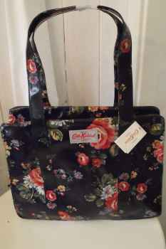 Cath Kidston Zip Bag Schultertasche Kentish Rose Navy