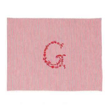 Green Gate Tischset Placemat Thea red with G