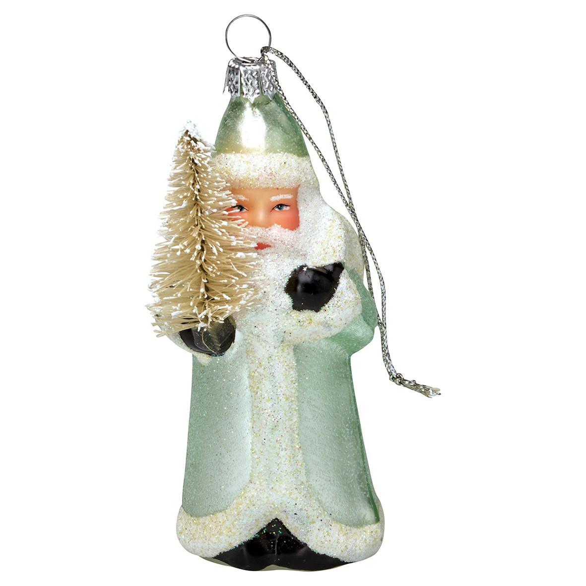 Sias decodreams green gate santa glas mint for Drescher baumschmuck