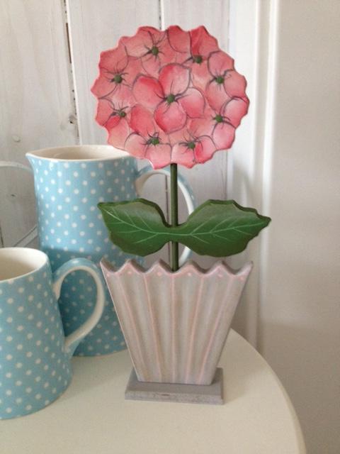 sias decodreams hortensie rosa im topf dekoration. Black Bedroom Furniture Sets. Home Design Ideas
