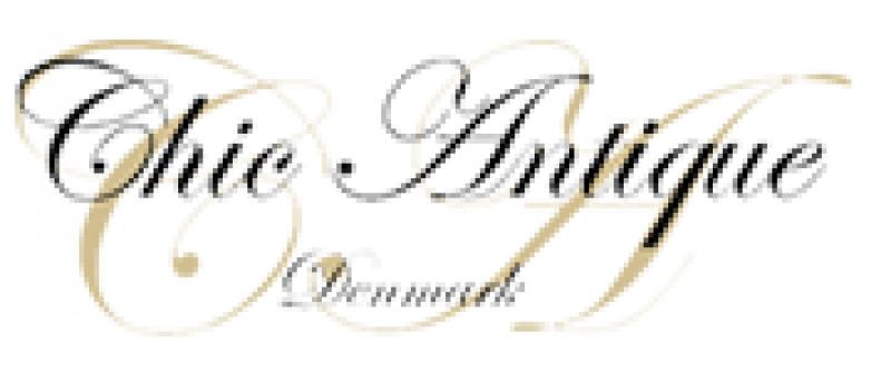 Chic Antique Kronleuchter Lampe Klein Weiße Patina Prismen
